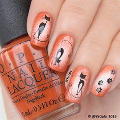"photo: OPI ""Alpine Snow"", ""It's a Piazza Cake"", top coat Seche Vite (see video on how to board) . Мяу Слайдеры OPI ""Alpine Snow"", ""It's a Piazza Cake"", лак-сушка Seche Vite от Видео будет совсем скоро! Fingernail Designs, Acrylic Nail Designs, Nail Art Designs, Fancy Nails, Pretty Nails, Nail Art Stamping Plates, Finger Nail Art, Nail Tattoo, Cat Nails"