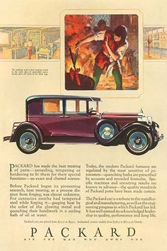 An ad for the line of cars produced by Packard. Selling models between $2275 and $4550.