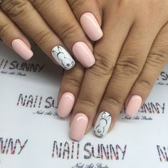 28 Ideas for a Festive Manicure for Easter 2019 - easter nails - Nageldesign Easter Nail Designs, Easter Nail Art, Nail Art Designs, Cute Nails, Pretty Nails, My Nails, Dark Nails, Bunny Nails, Classic Nails