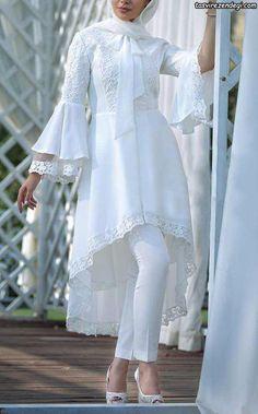 Net Embroidered Shirt - Her Crochet Modest Fashion Hijab, Indian Fashion Dresses, Indian Designer Outfits, Muslim Fashion, Fashion Outfits, Overalls Fashion, Modest Dresses, Stylish Dresses, Simple Dresses