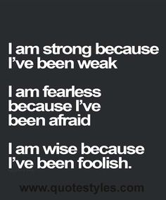 I am strong- Inspirational quotes