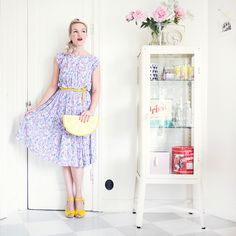 Swedish Blogger Emma Sundh in some yellow Heart Sandals.