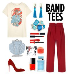 """David's Fan"" by grace-ooi on Polyvore featuring MadeWorn, RED Valentino, Christian Louboutin, Blossom Box, Ippolita, Dolce&Gabbana, Chanel, Christian Dior, Bourjois and Sara Happ"