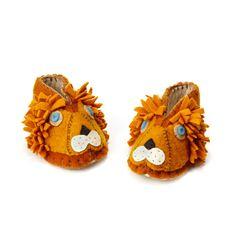 LION BOOTIES | Wool Baby Slippers, safari, lion | UncommonGoods