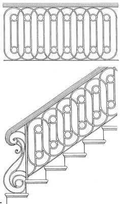 wrought iron stair railing ideas, luxury classic staircase