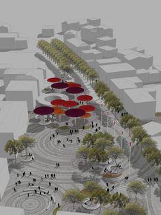 mir_architettura, Francesca Da Canal · Riqualificazione urbana centro storico-via Roma Medolla