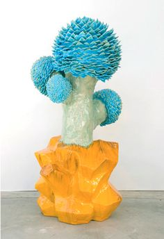Flower Tree, by Matt Wedel Contemporary Sculpture, Contemporary Ceramics, Contemporary Art, Ceramic Flowers, Color Shapes, Elements Of Art, Abstract Sculpture, Ceramic Artists, Soft Colors