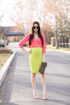 Necklace: Pink Peonies Collection | Blouse: Equipment | Skirt: ASTR | Heels: Christian Louboutin...