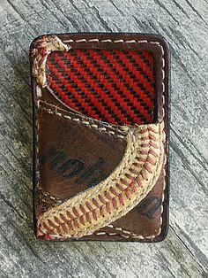 Custom Front Pocket Wallet Built From Old Baseball Gloves-Vvego #vvegooriginal #baseball #baseballleatherwallets #baseballlife #baseballmoms #coolwallets #frontpocketwallets #edc #madeinamerica  Find Us On Instagram @vvegogear