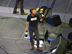 Eddie in a Rocky shirt. Doesn't get any better than that. 10.21.2013