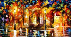 36x20 oil painting Flames Of Happiness 36x20 by AfremovArtStudio