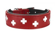 A Classic Collar with an updated Design! The front is red with that typical Swiss emblem in white, the back is black eco leather. Eco leather is a leather whose production gives environmental protection centre stage. This leather is compostable and aniline-colored. The Collar sizes indicate the complete length of the collar, measrued without the [...]Read More...