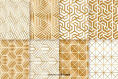 Collection pattern with geometric luxurious shape Free Vector Triangle Pattern, Gold Pattern, Pattern Design, Triangle Background, Background Patterns, Vector Background, Line Patterns, Textures Patterns, Bastet