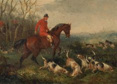 Foxhunting: At Cover, 1863, byWilliam J. Shayer, (1811–c.1885)
