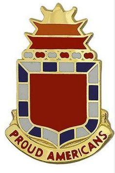 32nd Field Artillery Regiment Unit Crest (Proud Americans)