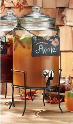 WEDDING IDEA !  Serve Apple Cider at a #FALL_WEDDING with this cute dispenser