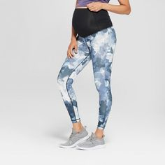 e40259e991c9d Maternity Floral Print Active Leggings with Crossover Panel - Isabel  Maternity by Ingrid Classy Fashion,