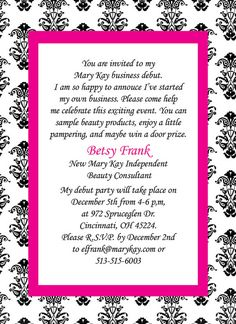 mary kay invitation how cute!
