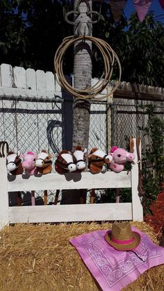 Toy horses at a cowgirl birthday party! See more party ideas at CatchMyParty.com!