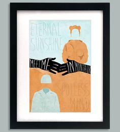 Eternal Sunshine of the Spotless Mind Inspired Original Art Print on Etsy, $15.00
