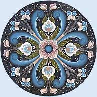 Rogaland, province bordée à l'ouest par l'Atlantique. L'influence des régions de Télémark, Hallingdal et Vest-Agder est importante dans ce style. Les Vikings et ensuite les navigateurs de différentes origines ont sans aucun doute rapporté des tissus, des bijoux, des pièces décoratives de plusieurs régions d'Europe et d'Asie. L'influence hollandaise et germanique se voit dans la prédominance des tulipes, des vases et des fleurs
