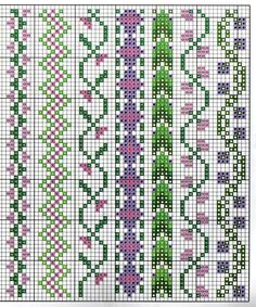 Czech cross stitch pattern - Předlohy na vyšívání Cross Stitch Boarders, Cross Stitch Bookmarks, Mini Cross Stitch, Cross Stitch Flowers, Counted Cross Stitch Patterns, Cross Stitch Charts, Cross Stitch Designs, Cross Stitching, Cross Stitch Embroidery