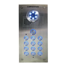 Vandal resistant entrance panel with an inbuilt access control keypad and colour camera. Manufactured by Competition and can be a part of a larger #doorentrysystem as a total of two entrance panels and four indoor monitors can be connected at the same time. More information can be found on our Website http://doorentrydirect.com/01-way-vandal-resistant-colour-video-intercom-panel-keypad-p-2204.html?cPath=0