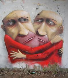 ADOR is a french street artist from Nantes, who creates murals of large scale with imaginative humanoid characters , usually with large mouths and long noses. He is now based in Manchester, UK 3d Street Art, Street Art Graffiti, Street Artists, Mr Brainwash, Banksy, Nantes France, L'art Du Portrait, Urbane Kunst, Graffiti Artwork