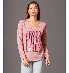 Μπλούζα με στάμπα Front Row Only - Ροζ Αντικέ Graphic Tank, Graphic Sweatshirt, Tank Tops, Sweatshirts, Sweaters, Women, Fashion, Moda, Halter Tops