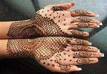Mehndi - Henna Tattoos. History & How to Do.  (Wikipedia)