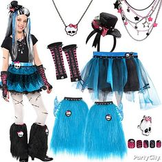 Freaky fabulous & totally fun! Let your daughter mix & match her own Monster High character with tons of tutus, hats skullette jewelry & more! She can choose to be Frankie, Draculaura or a little bit of both! Gore-geous!
