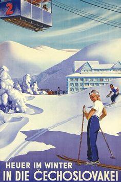 Heuer im winter in die Cechoslovakei - 1935 -
