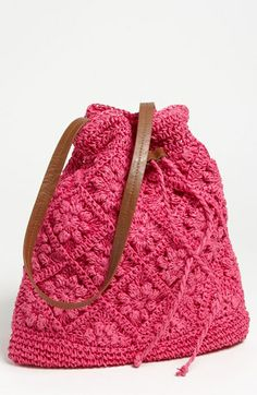 Straw Studios Crochet Tote ༺✿ƬⱤღ  https://www.pinterest.com/teretegui/✿༻