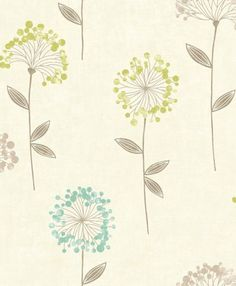 Carmen Floral Teal wallpaper by Arthouse