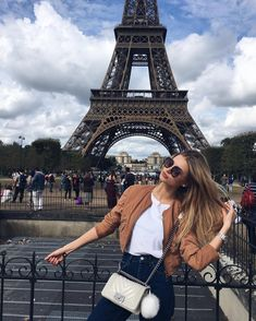 Chanel Boy bag and pom pom in Paris
