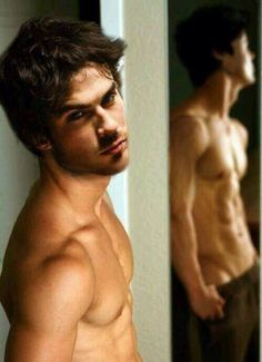 Damon Salvatore in the Vampire Diaries.... All I can say is YUM!!!