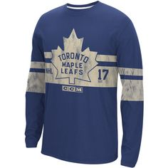 Reebok NHL Long Sleeve Crew Tee - Toronto Maple Leafs (160 BRL) ❤ liked on Polyvore featuring men's fashion, men's clothing, men's shirts, men's t-shirts, apparel, men, mens long sleeve t shirts, mens longsleeve shirts, mens crew neck t shirts and mens graphic t shirts