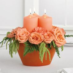 Candle Centerpiece | Grande Flowers500 x 500 | 46.8KB | grandeflowersshorewoodwi.co...