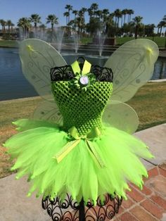 This Tinkerbell Tutu Dress is made with Bright Green tulle and a matching green stretchy crochet top. Halloween Tutu Costumes, Cute Costumes, Halloween Dress, Halloween Outfits, Disney Costumes, Couple Halloween, Adult Costumes, Christmas Tutu Dress, Green Costumes