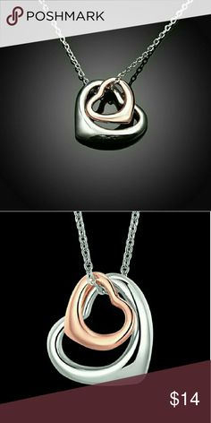 SALE!Your love beats in my heart.Rosegold Necklace Brand new in package. Rosegold beautiful hearts collierre/pendant/necklace Jewelry Necklaces