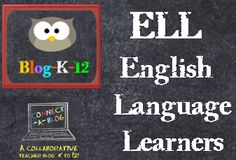 cover for Pinterest board for English Language Learners teaching resources