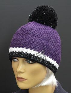 R Jet For You dámská zimní pletená čepice ve fialové barvě