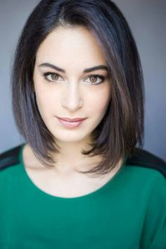 Actress Justine Cotsonas, head shot... love her hair and makeup!