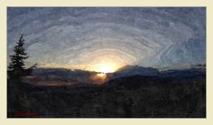 Paesaggio-tramonto+tra+le+nuvole Celestial, Digital, Painting, Outdoor, Art, Outdoors, Art Background, Painting Art, Kunst