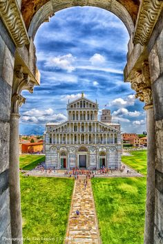 Piazza dei Miracoli viewed from the window in the Baptistery of St John https://www.facebook.com/PhotographyByLisaLettieri
