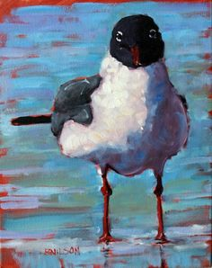 Gull Confusion -- Rick NilsonGull Confusion 2012-04-24 14 in X 11 in (35.6 cm X 27.9 cm) Oil on canvas