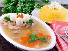 Piftie (răcituri) de curcan – rețeta care sigur iese perfect tuturor gospodinelor! Romanian Food, Food Presentation, Thai Red Curry, Carne, Cantaloupe, Turkey, Appetizers, Eggs, Chicken