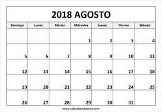 Para Imprimir Calendario Agosto 2018
