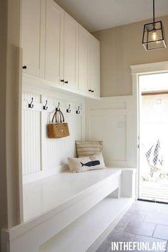 beadboard, upper cabinets, filament pendant