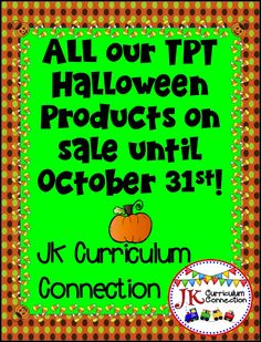 Be sure to stop by and get some great Halloween learning games and songs for Kindergarten and 1st Grade classrooms!